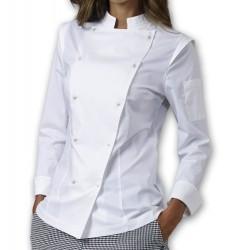 Giacca Cuoco Donna Dalila Elasticizzata Bianca