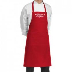 Grembiule Cuoco Pettorina Rosso Christmas Chef