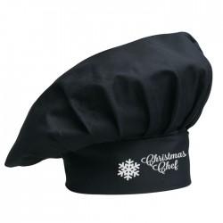 Cappello Cuoco Christmas Chef Nero