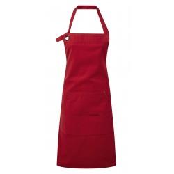 Grembiule Canvas Con Tasca Rosso