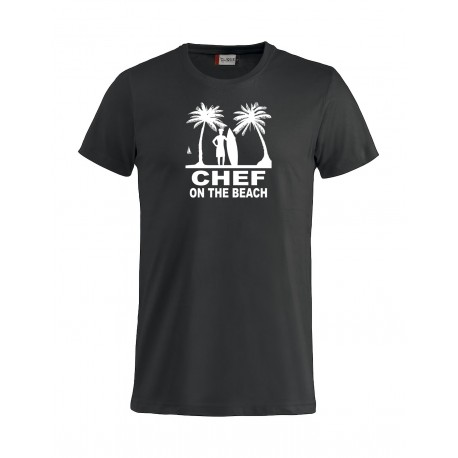 T-Shirt Manica Corta Chef On The Beach Nera