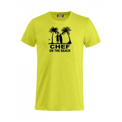 T-Shirt Chef On The Beach Fluo