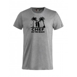 T-Shirt Chef On The Beach Grigia