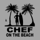 T-Shirt Chef On The Beach Grigia