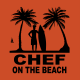 T-Shirt Chef On The Beach Arancio