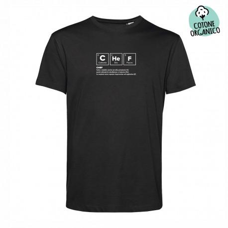 T-Shirt Organica Chef Chemics Nera