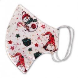 Mascherina a Conchiglia Natale