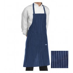 Grembiule Cuoco Pettorina Rigato Blu