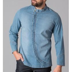 Giacca Cuoco Ventura Stretch Jeans Blu Chiaro