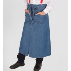 Grembiule Vita Lungo Stone Jeans Blu
