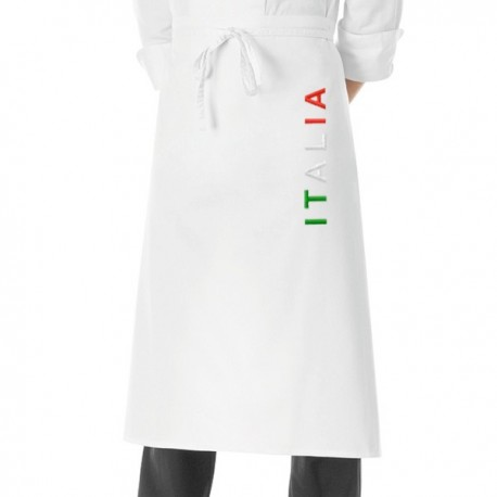 Grembiule Cuoco Nome Italia Bianco