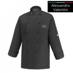Giacca Cuoco Chef Italia Microfibra Nera