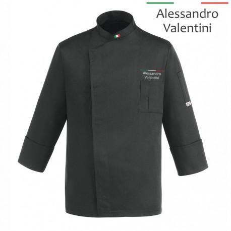 Giacca Cuoco Lorenzo Nera Chef Italia