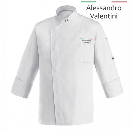 Giacca Cuoco Lorenzo Bianca Chef Italia