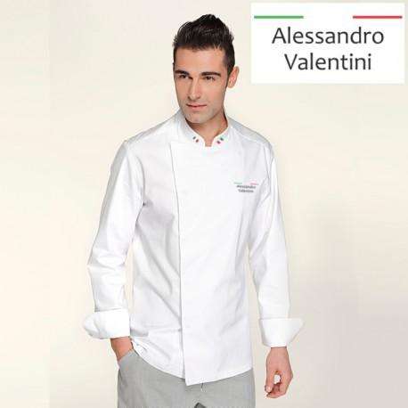 Giacca Cuoco Mirko Bianca Chef Italia