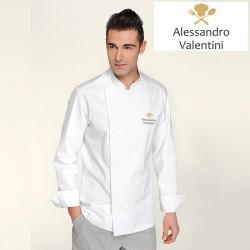 Giacca Cuoco Mirko Bianco Simbolo