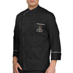 Giacca Cuoco Brasile Nero 4 Stelle