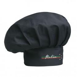Cappello Cuoco nero 4 Stelle