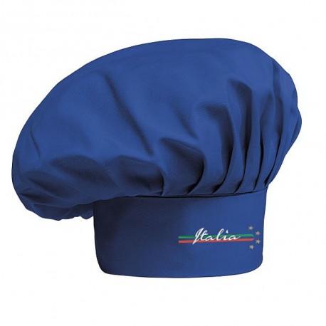 Cappello Cuoco azzurro 4 Stelle