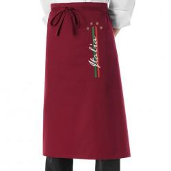 Grembiule Cuoco 4 Stelle bordeaux